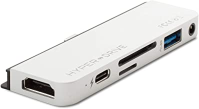 HyperDrive iPad Pro用 6-in-1 USB-C Hub シルバー 4K HDMI microSD SD USB-A オーディオジャック 拡張 HYPER++ 【日本正規代理店品】