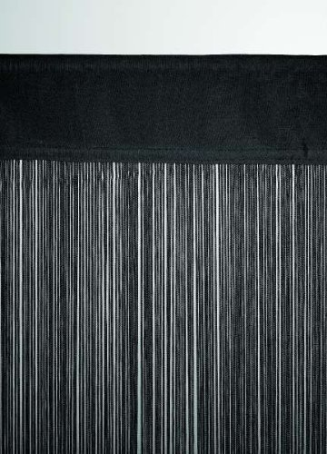 String curtain approx 90 x 200 cm (width x height) in black by Leguana