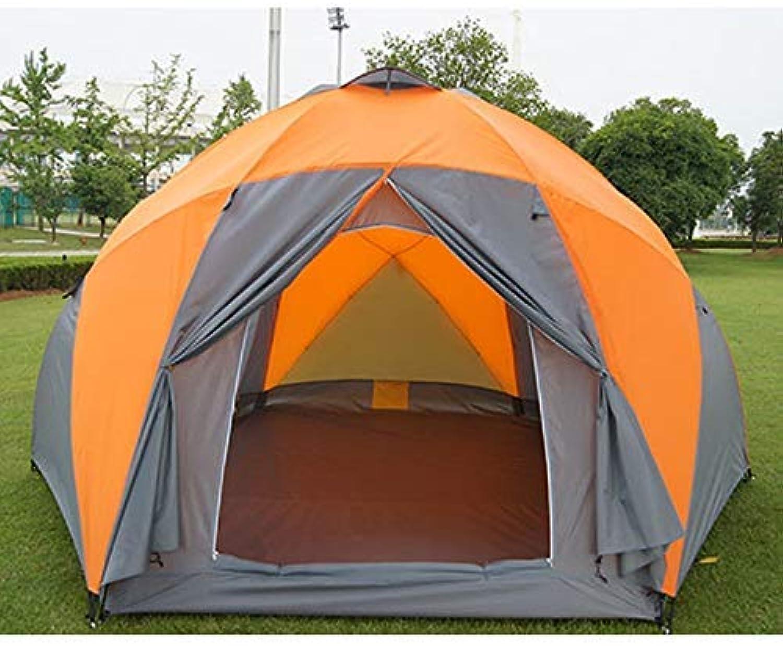 CHYYZP Zelt Tourist Zelte Freizeit Wetterfest Groe Camping Zelt Für Familienurlaub 8-10 Personen Beach Party Double-Layer Double