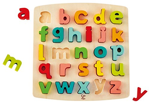 Hape International- Puzle Encajable Alfabeto Minúsculas, (E1552)