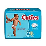 Cuties Baby Diapers Size 3 16-28 LBS. (Pack of 4/36)
