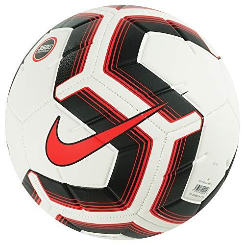 Nike Nike Strike Team Round Ball, Hombre, White/Black/Bright Crimson, 5