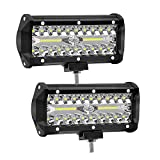 7 Pouces 120W Projecteur Phare de Travail Led WANYI Lampe de Travail 12V/24V pour Vehicule 6000K...
