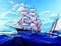 ダイヤモンドの絵画 5Ddiyダイヤモンド絵画クロスステッチ船フルスクエアダイヤモンド刺繡風景モザイクラインストーン家の装飾