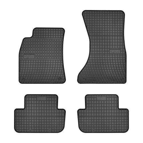 Frogum 0728 Gummifußmaten, solide, oryginal Passform Audi A4-B8 2007-2015 angepasst – Schwarz