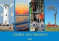 Gruesse von Usedom (Wandkalender 2022 DIN A4 quer): Sehenswerte Motive von der Insel Usedom (Monatskalender, 14 Seiten )