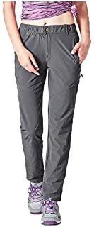 Women's Quick Dry Hiking Pants Sun Protection Mountain Trousers Lightweight Climbing Pants