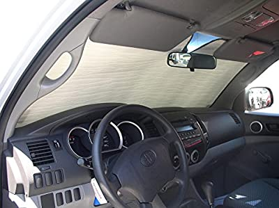 The Original Auto Sunshade, Custom-Fit for Toyota Tacoma Truck (Crew Cab) 2005-2015 Sunshield