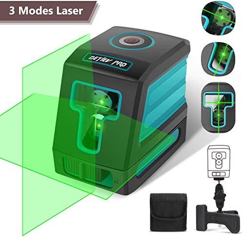 Niveau Laser Croix, DETLEV PRO Niveau Laser Autonivelant Laser Horizontal et Verticale Faisceau Vert...
