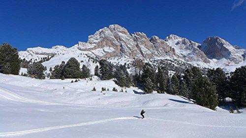 LAMINATED 42x24 Poster: Skiing Dolomites Snow Val Gardena Mountain Mountains Winter Winter Landscape Altoadige Sudtirol Landscape Odle Holiday Child Snow