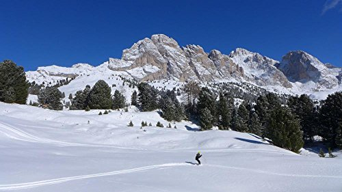 LAMINATED 42x24 Poster: Skiing Dolomites Snow Val Gardena Mountain Mountains Winter Winter Landscape Altoadige Sudtirol Landscape Odle Holiday Child Snow