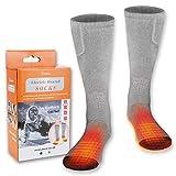 M.Jone Heated Socks, Electric Heating Socks for Men Women, Winter Warm Cotton Socks Camping/Fishing/Cycling/Motorcycling/Skiing