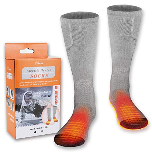 MJIIM Heated Socks, Electric Heating Socks for Men Women, Winter Warm Cotton Socks Camping Fishing Cycling Motorcycling Skiing