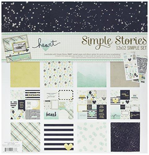 Simple Stories Simple Conjuntos Kit de Papel para Manualidades (30,4x 12-Inch-Heart