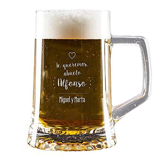 Calledelregalo Regalo Personalizado para Abuelos: Jarra de Cerveza Personalizada en Estuche (Abuelo)