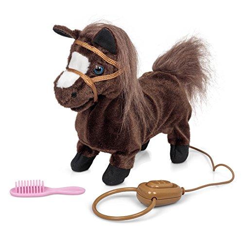Elektronisches Pferd Pony, Das Galoppiert Und Wiehert (Mit Sound Und Bewegung, Ca 22 cm Lang) Braun
