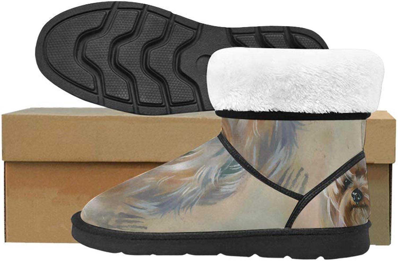InterestPrint Women's Classic Winter Snow Outdoor Warm Durable Mid Calf Snow Boots