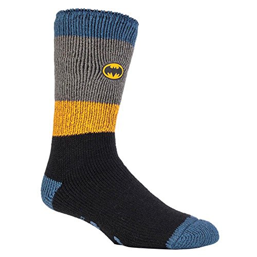 HEAT HOLDERS - Herren & Jungen Marvel thermische Anti Rutsch Socken Stoppersocken in 4 Designs (39-45 Eur, 6-11 UK, Batman/Offiziersbursche)