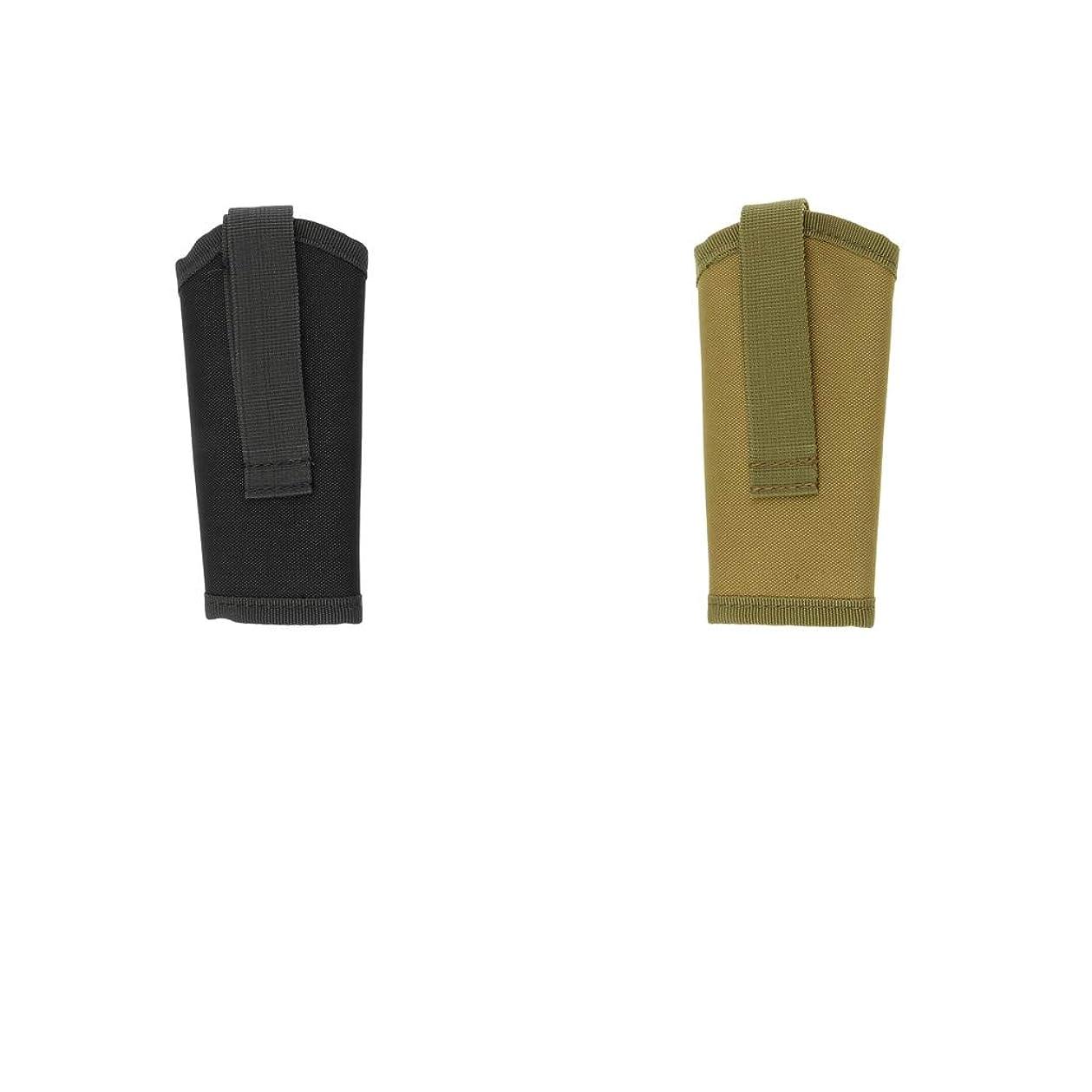 一人で叫び声役割Perfk キーポーチ キーホルダー サイレント 鍵保持 600Dナイロン バックル 2点入