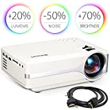Blusmart LED-9400 Video Projector, 2018 Upgraded +70% Brightness...