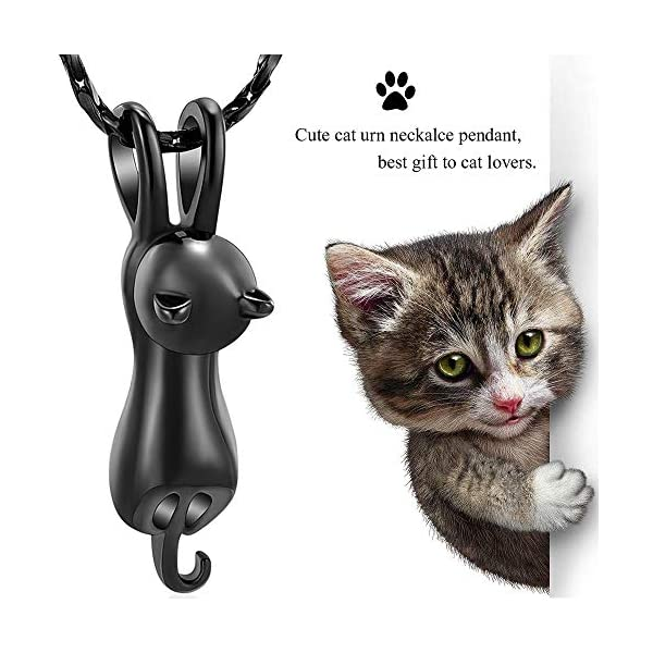 Imrsanl Pet Cremation Jewelry for Ashes Memorial Ash Jewelry Keepsake Cat Urn Pendants for Animal Ashes Necklace