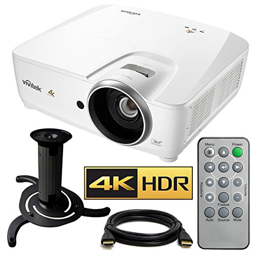 Vivitek HK2288 4K DLP Projector with High Dynamic Range (White) with Ceiling...