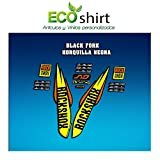 Ecoshirt 7N-A5UI-Q9I3 Egatinas Stickers Fork Rock Shox SID WC World Cup 2017 Am127 Aufkleber Decals Autocollants, Amarillo y Naranja