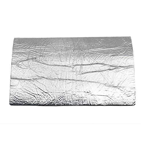 NEHARO Auto Zelt Regenschirm Aluminiumfolie 10mm Dicke Auto Schallschutz Cotton Mat Wärme Thermal Proofing Pad (Farbe : Silber, Größe : Type C)