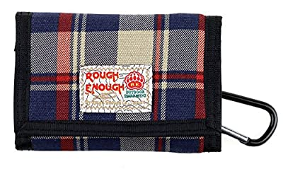 Rough Enough Canvas Travel Men Women Kids Wallet Credit Card Holder Coin Purse Pouch Case Organizer with Zipper and Checkerboard Checker Pattern Black White for Outdoor Sport School Boys Girls