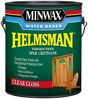 Minwax Water-Based Helmsman Spar Urethane Indoor, Outdoor Clear Gloss Crystal Clear 1 Gl