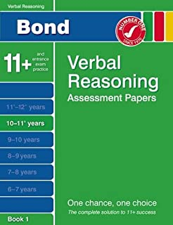 Bond Verbal Reasoning Assessment Papers 10-11+ years Book 1 by J M Bond (16-May-2012) Paperback