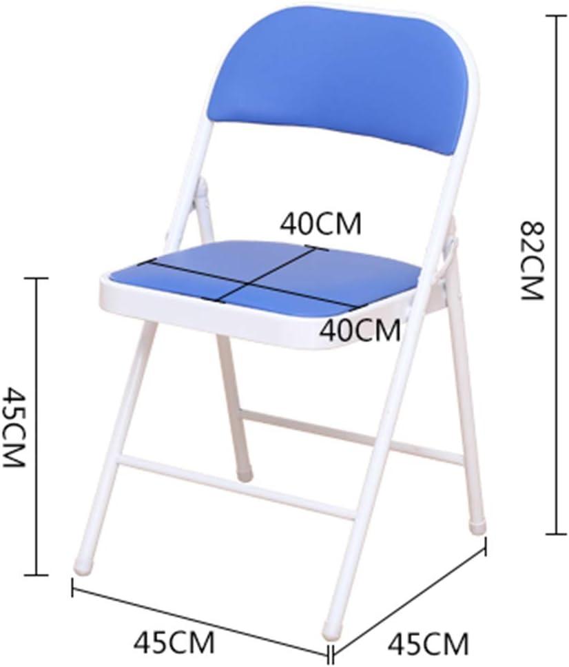 ch-AIR Ordinateur Chaise Bureau Ménage Chaise Pliante Dossier Tabouret Simple Chaise De Salle À Manger Adulte Tabouret Portable Dortoir F