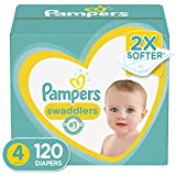 Diapers Size 4, 120 Count - Pampers Swaddlers Disposable Baby Diapers
