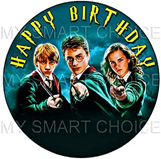 7.5 Inch Edible Cake Toppers – Harry Potter, Hermione & Ron Themed Birthday Party Collection of Edible Cake Decorations