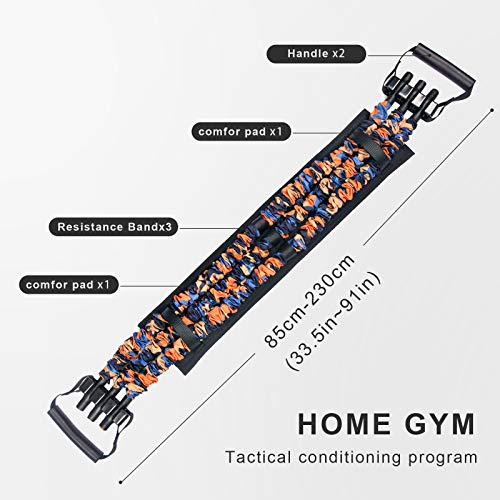 TOCO FREIDO Adjustable Bench Press (120LBS),Push Up Resistance Bands, Fitness Workout Equipment, Chest Builder Expander Resistance Training for Home Workout, Gym