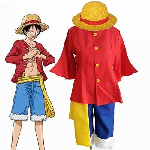 LACKINGONE One Piece Kostüme Monkey D. Ruffy nach 2 jähriger Trennung Hemd Hose (M)