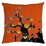 Beonzale Halloween Ghost Kissenbezug Sofa Waist Throw Dekokissenbezug Sofakissenbezug Home Decor