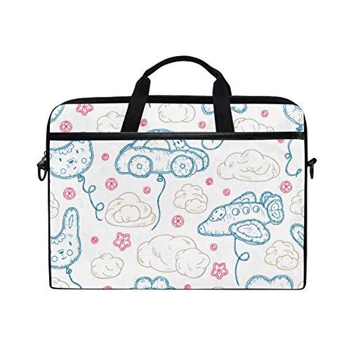 HUAYEXI 15-15.4 Pollici Borsa per Laptop,Palloncini gonfiabili da Spiaggia per Bambini Giocattoli Kawaii,Notebook Borsa a Tracolla per PC Portatili Laptop Sleeve Case