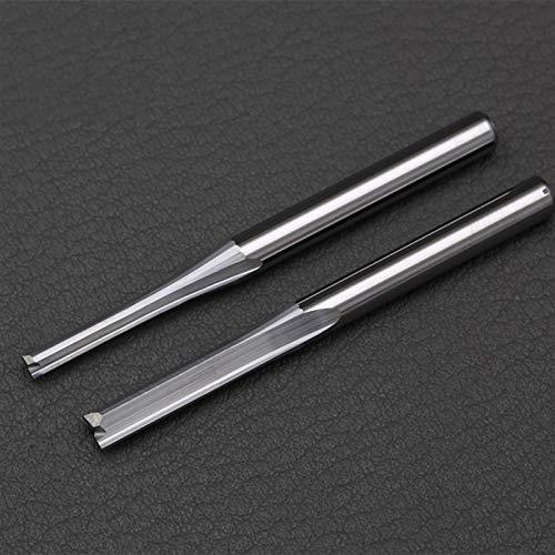Rmage Myouzhen-bits 3.175mm, 4 mm Dos bits de enrutador de Flauta para cortadores de Grabado Rectos CNC de Madera, Herramientas de fresado de Extremo de carburo, 10pc