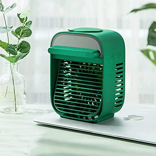 Aire Acondicionado Portatil Enfriadores evaporativos Refrigerador de aire personal, mini acondicionador de aire portátil, refrigeración con humidificador Silent 3 velocidades Ventilador de refrigeraci