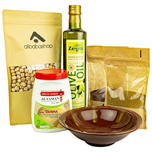 Alibabashop - My Hummus Box - Komplett-Set zum Selbermachen von Hummus bi Tahina