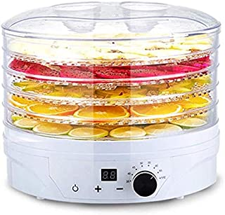H.yina Intelligent Constant Temperature Food Dehydrator Machine with 5 Tier for Fruit Veg Meat Fish Vegetables Beef Jerky ...