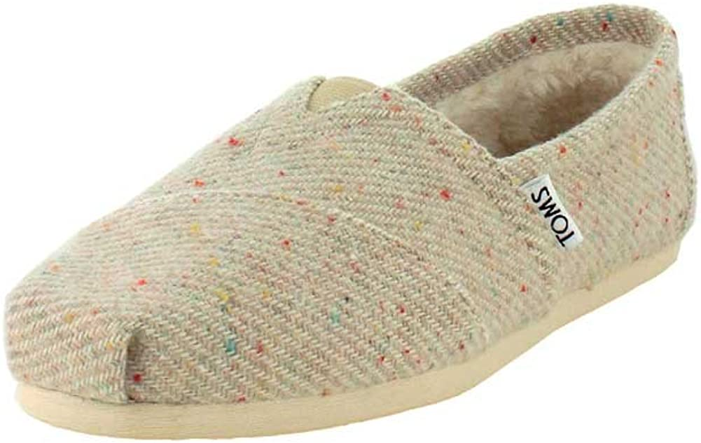 TOMS Womens Classic Knit Grey Slip-On