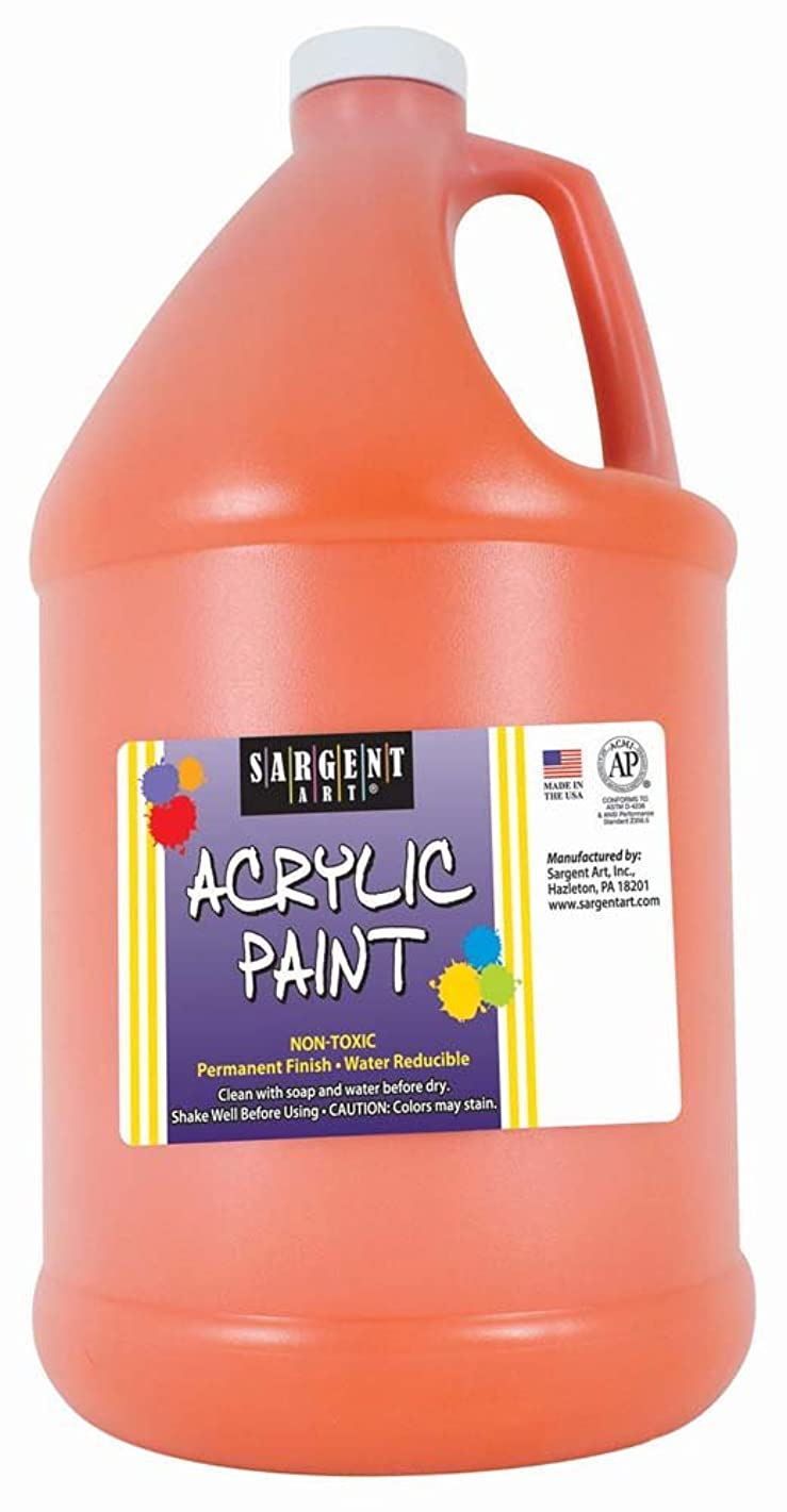 Sargent Art Half Gallon Acrylic Paint Orange, (64-Ounce, 1/2 Gallon) 22-2714