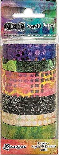Ranger 3-7 Rolls Dyan Reaveley's Dylusions Washi Tape Set (Ranger Little Bird)
