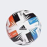 adidas Tsubasa TRN Soccer Ball, Men's, White/Solar Red/Glory Blue/Black, 5