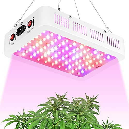 TATU LED Grow Lights 1000W Full Spectrum Growing Lamp Double Chips Indoor Plants LED Grow Light Veg and Bloom Switch for Grow Tent (Actual Power 110 Watt)