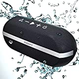 INSMY Portable Bluetooth Speakers, 20W Wireless Speaker Loud Stereo Sound Rich Bass, IPX7 Waterproof, TWS Mode, 24 Hours Playtime, Bluetooth 5.0 100ft Range, Built-in Mic for Outdoors Camping (Black)