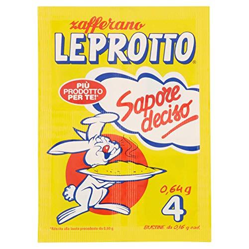 Leprotto Zafferano Bustine con Ricettario, 4 x 0.16g