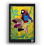 Miles Morales Spider-Man - Pintura Enmarcado Original, Imagen Pop-Art, Impresión Póster, Impresion e...